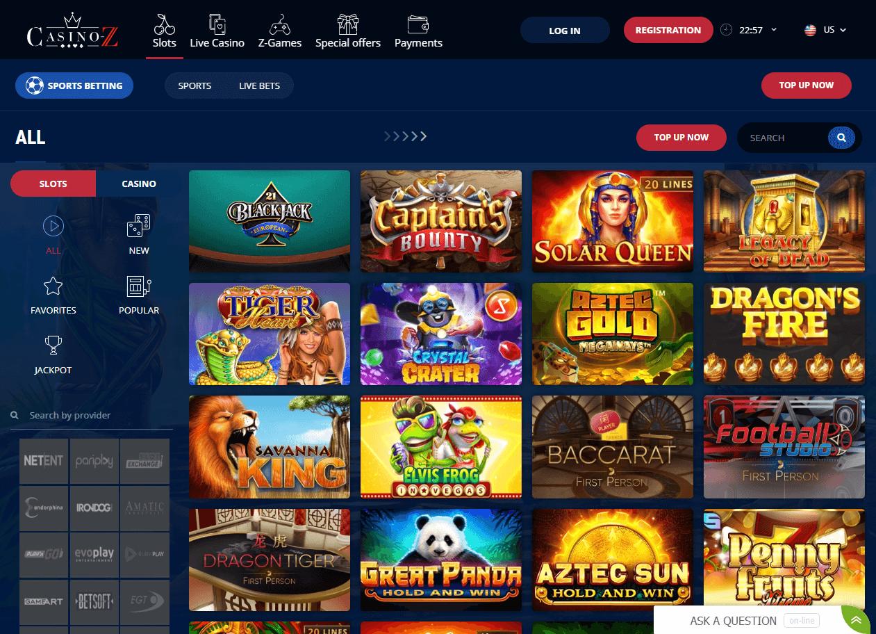 casino z games
