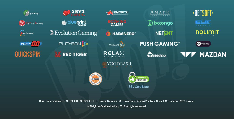 booi casino games providers