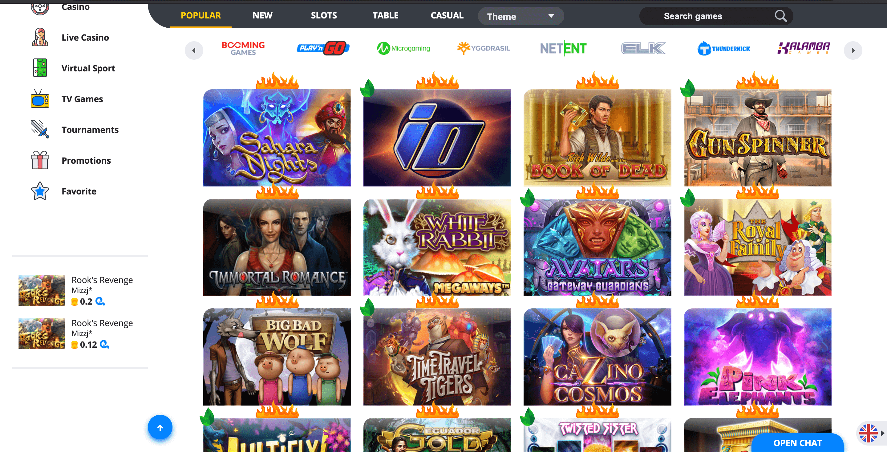 ego casino games play online