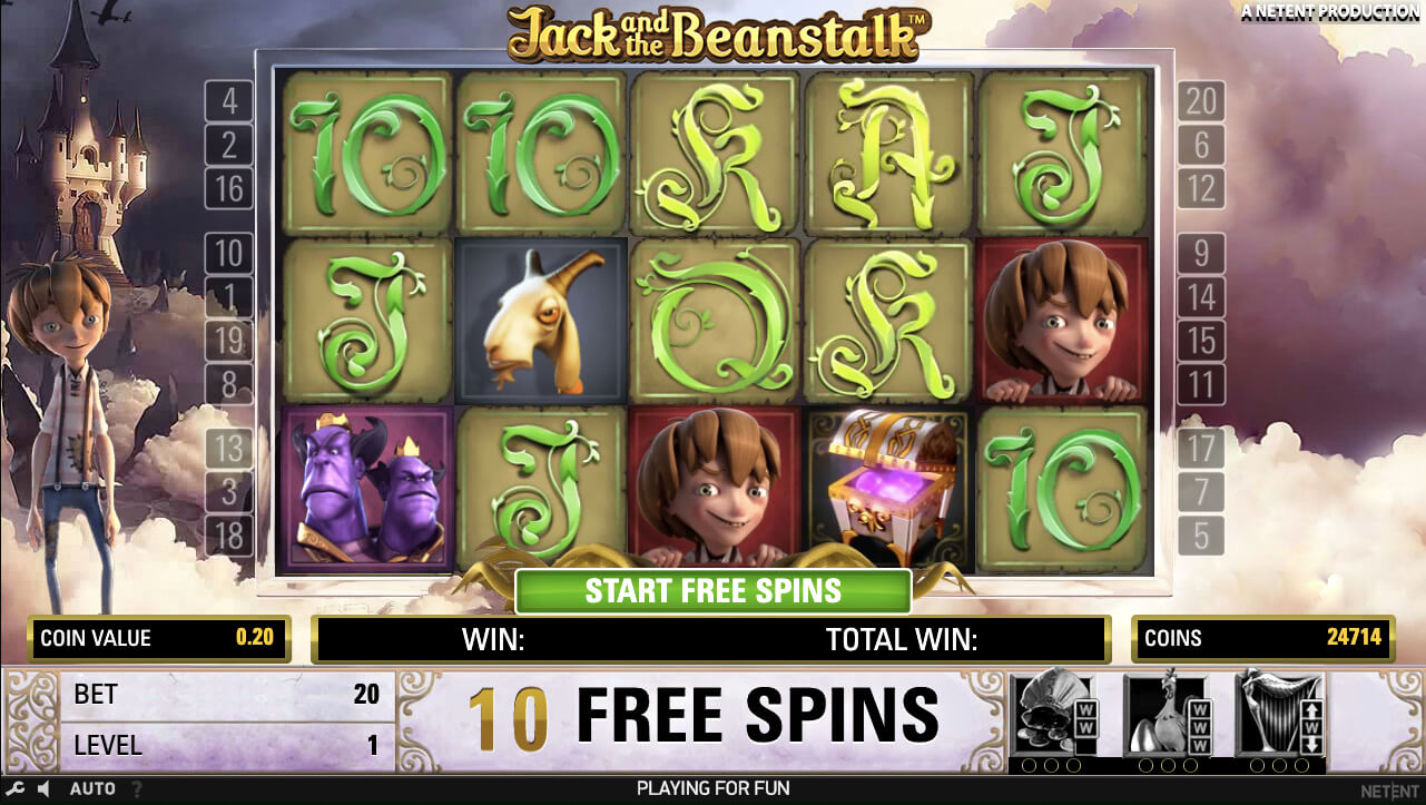 Jack and the Beanstalk Online Slot (NetEnt)