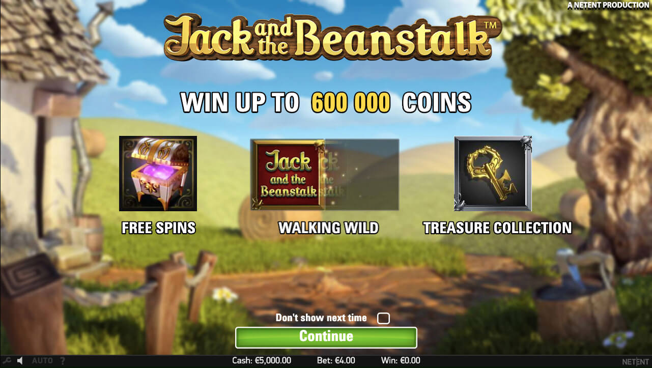 Jack and the Beanstalk Slot Game (NetEnt)