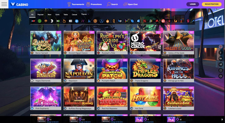 ivi casino games
