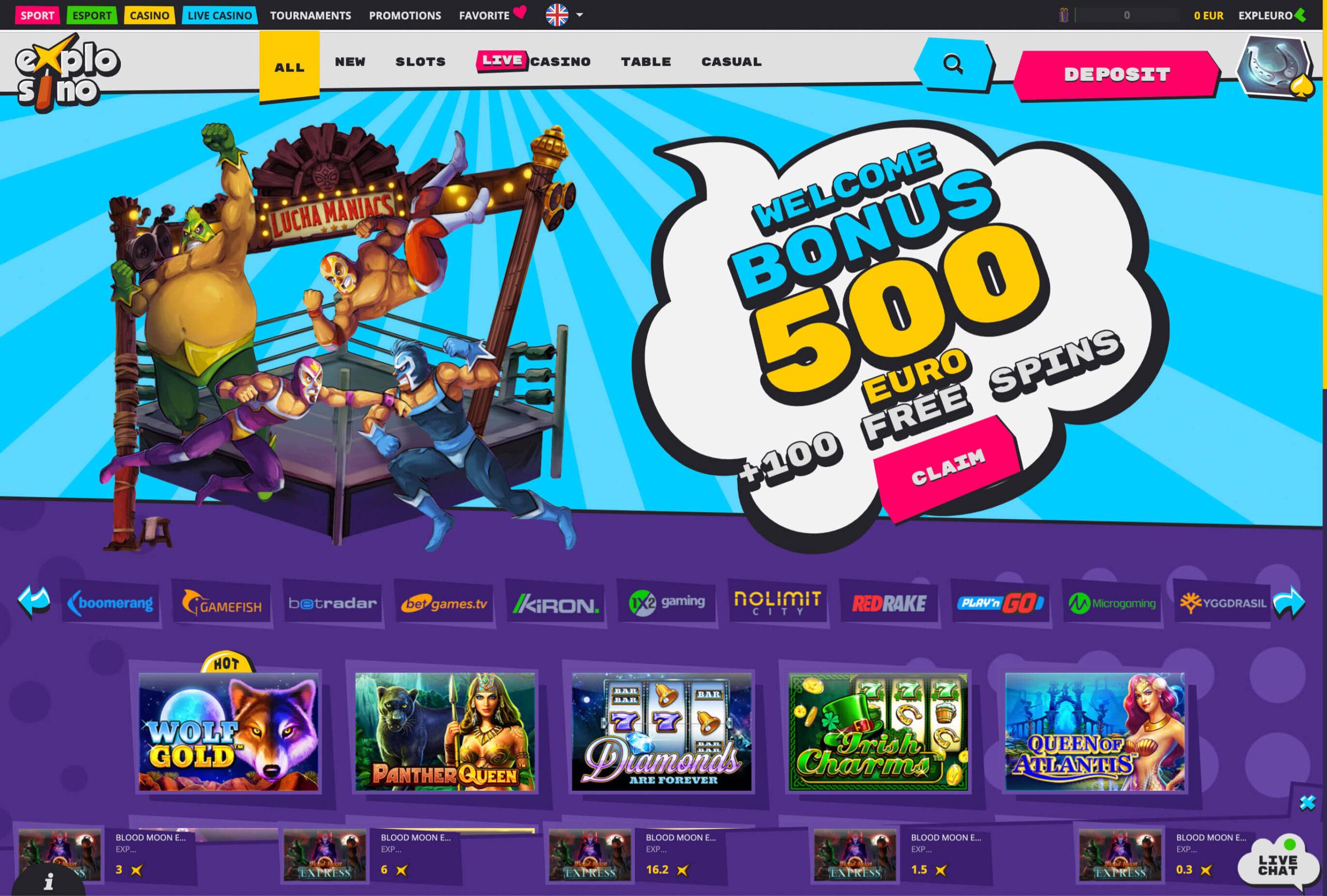 Explosino casino site