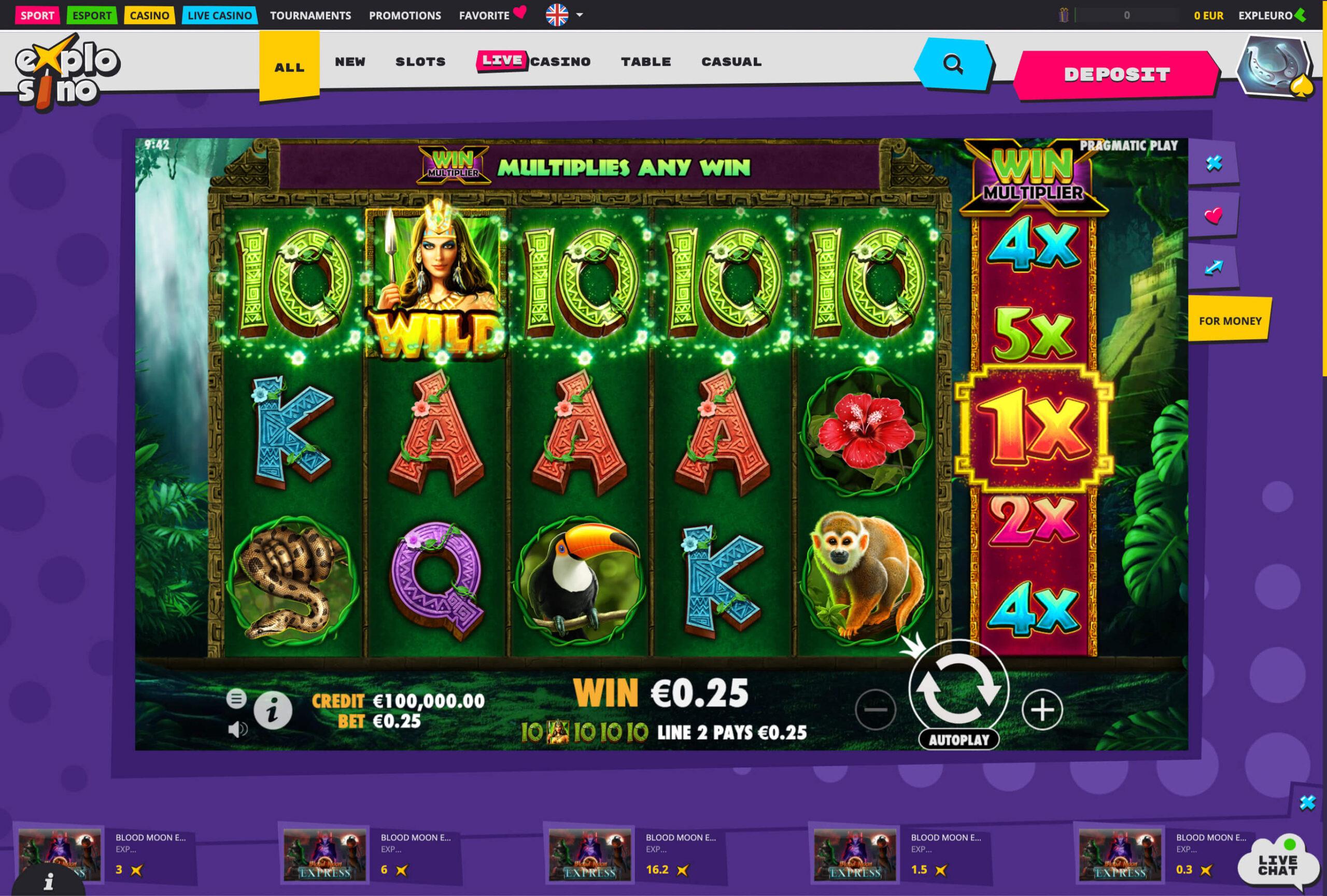 Explosino casino slot