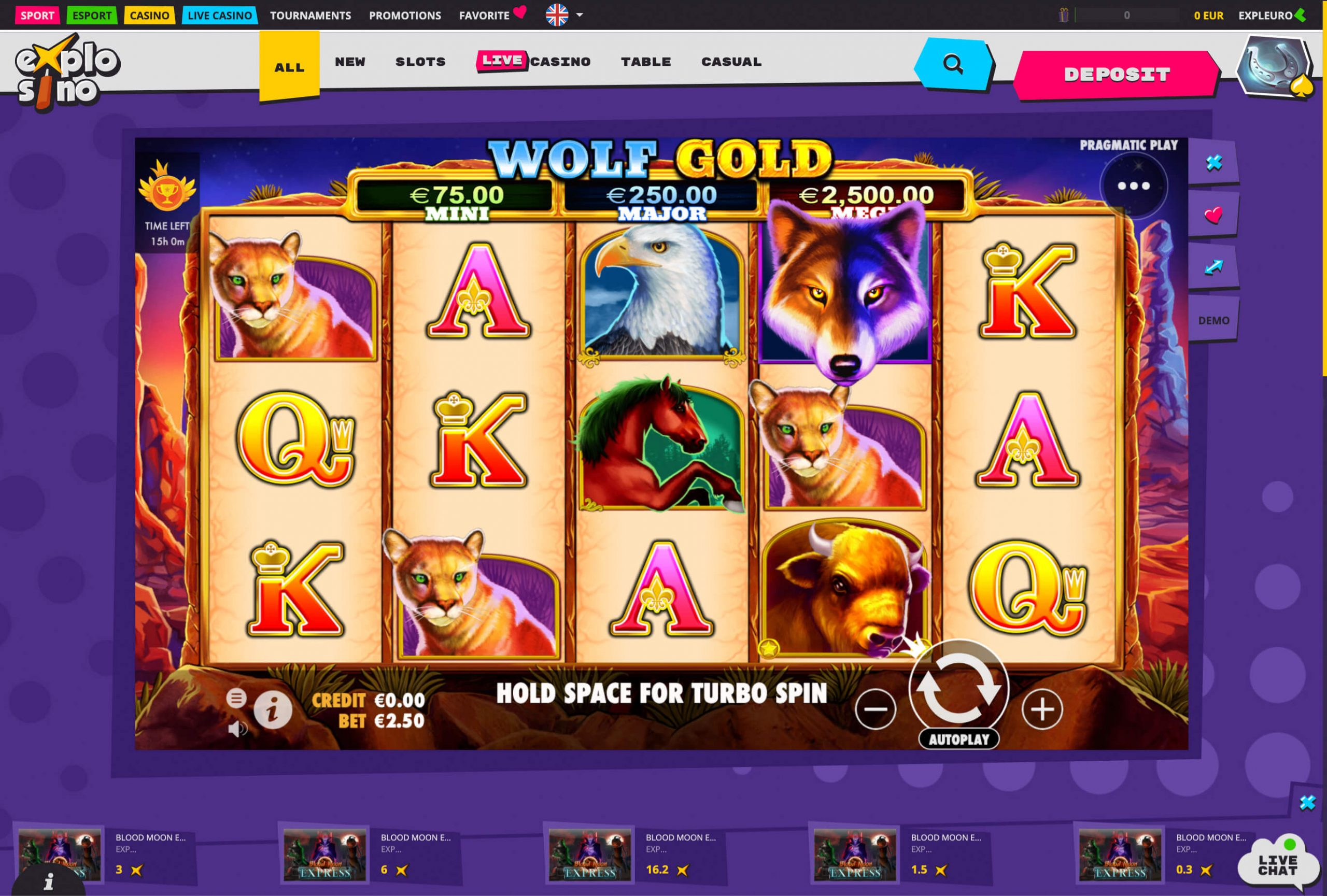 Explosino casino slot machine