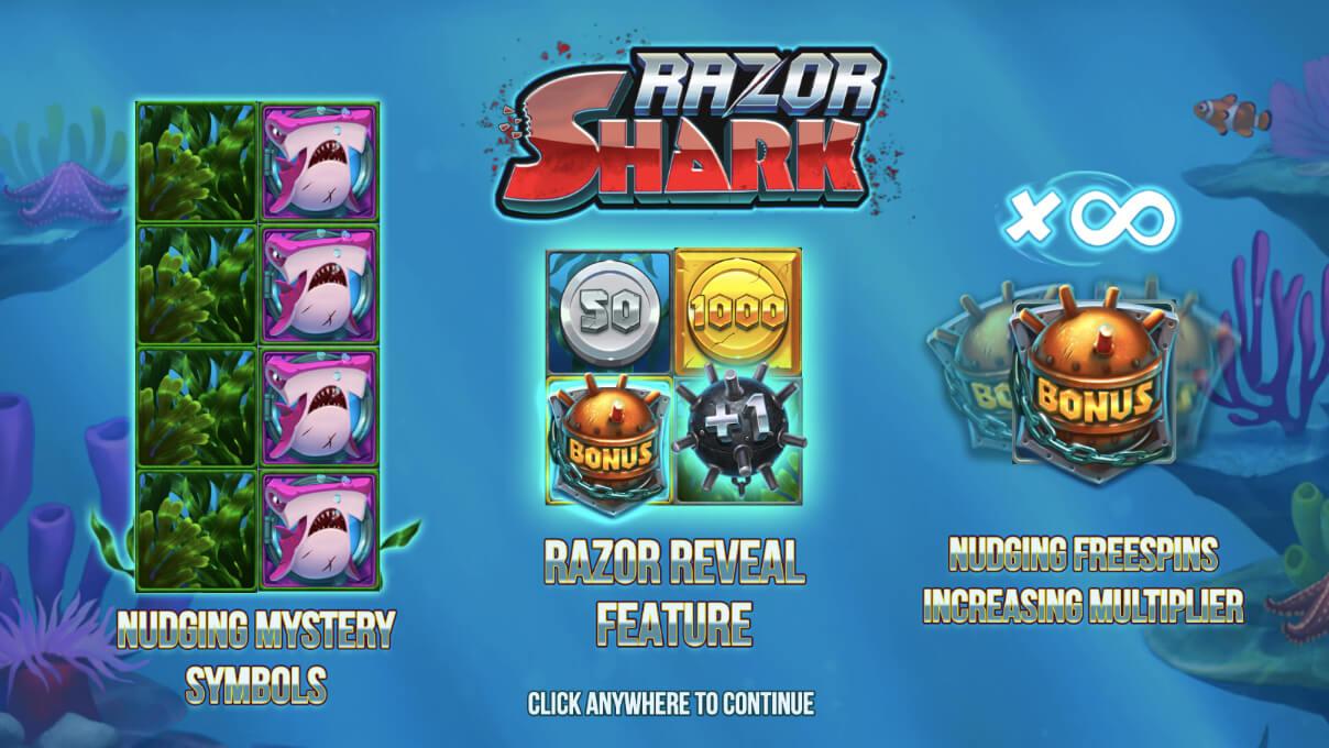 Razor Shark Push Gaming Slot Screenshot