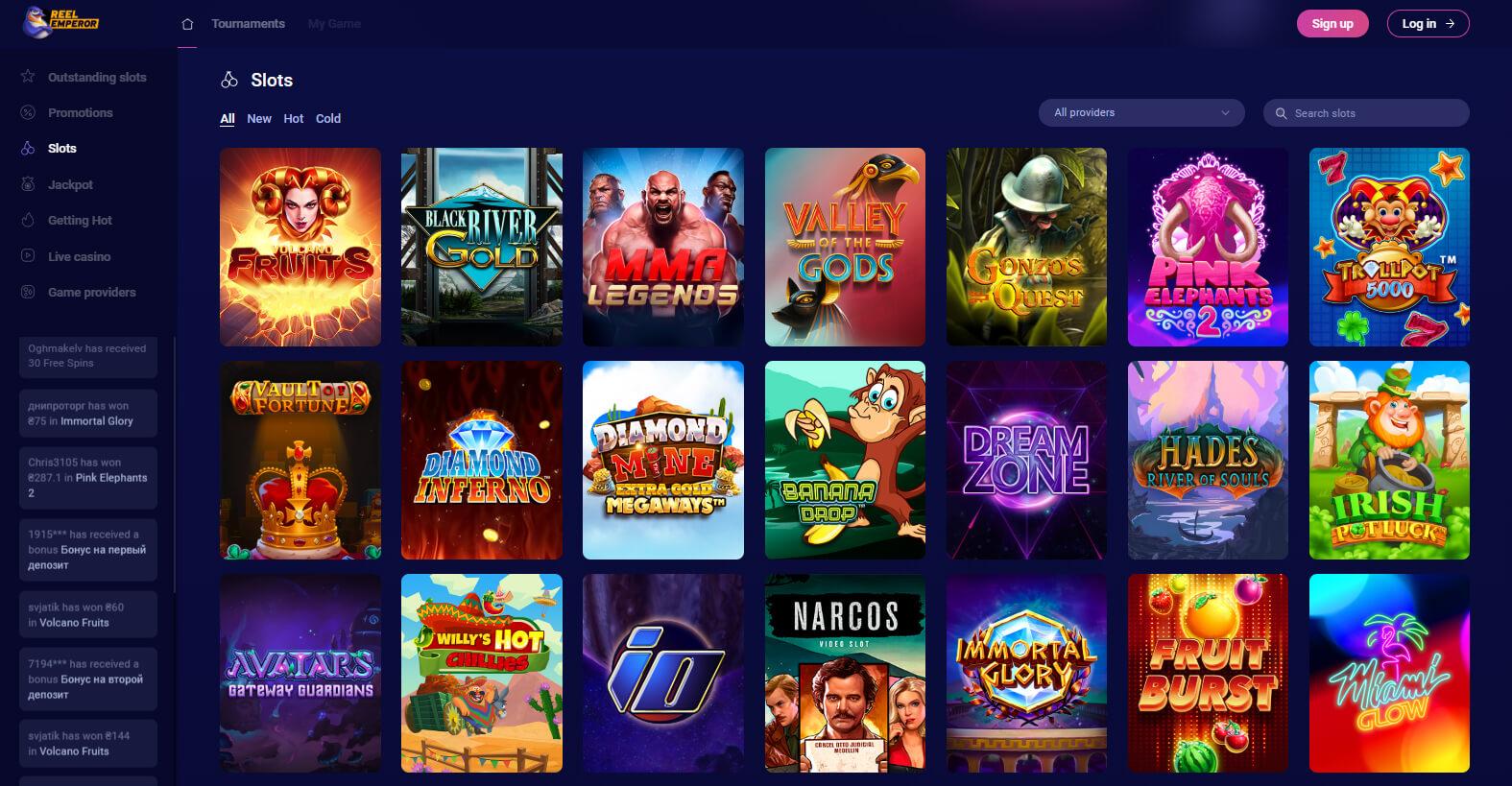 reelemperor casino slots