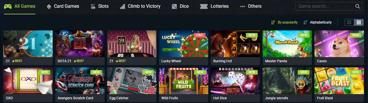 JV spin Casino game
