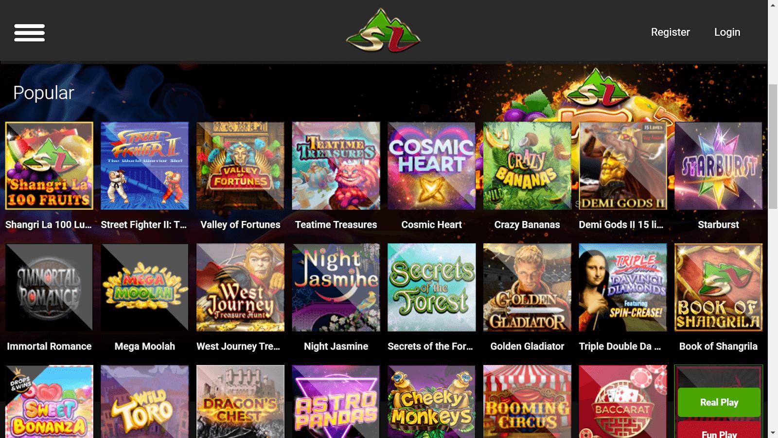 shangri la live site casino