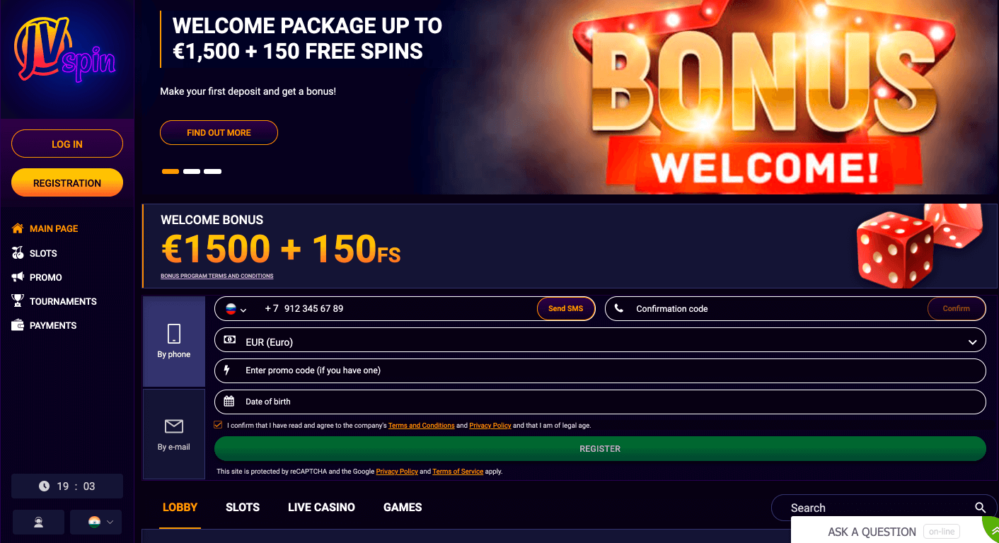 jvspin casino bonuses