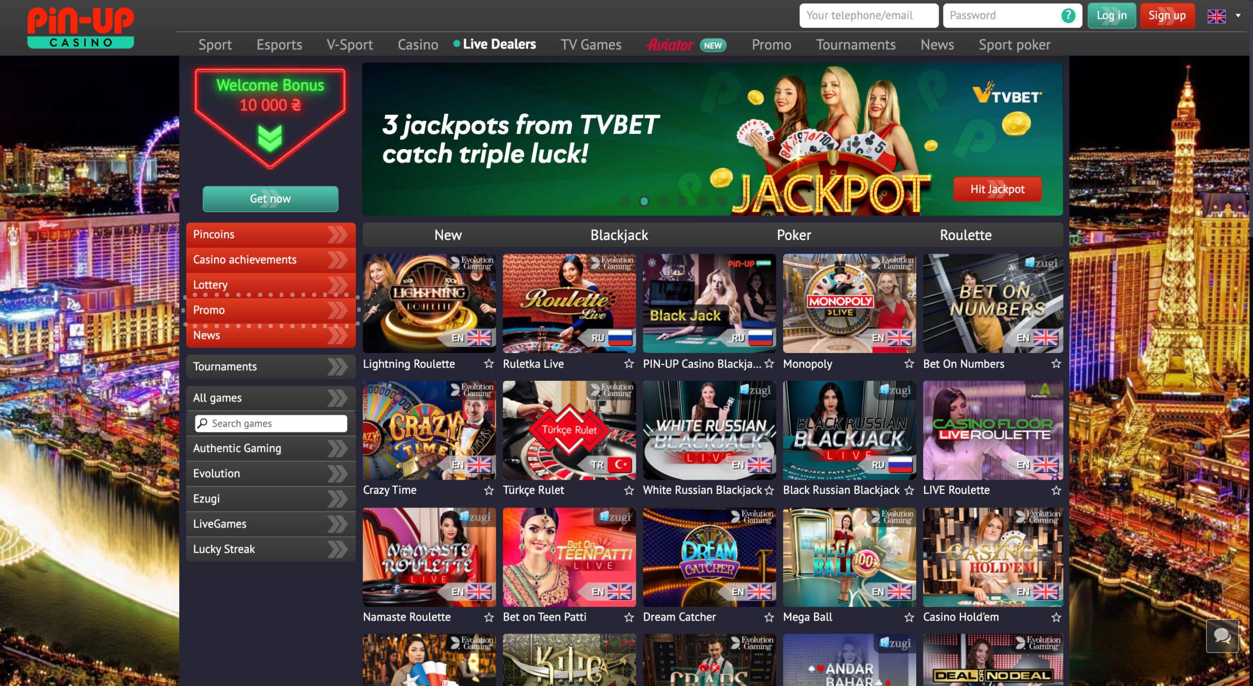 pin up live casino