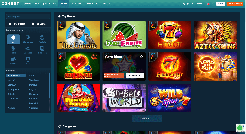 ZENBET Casino slots