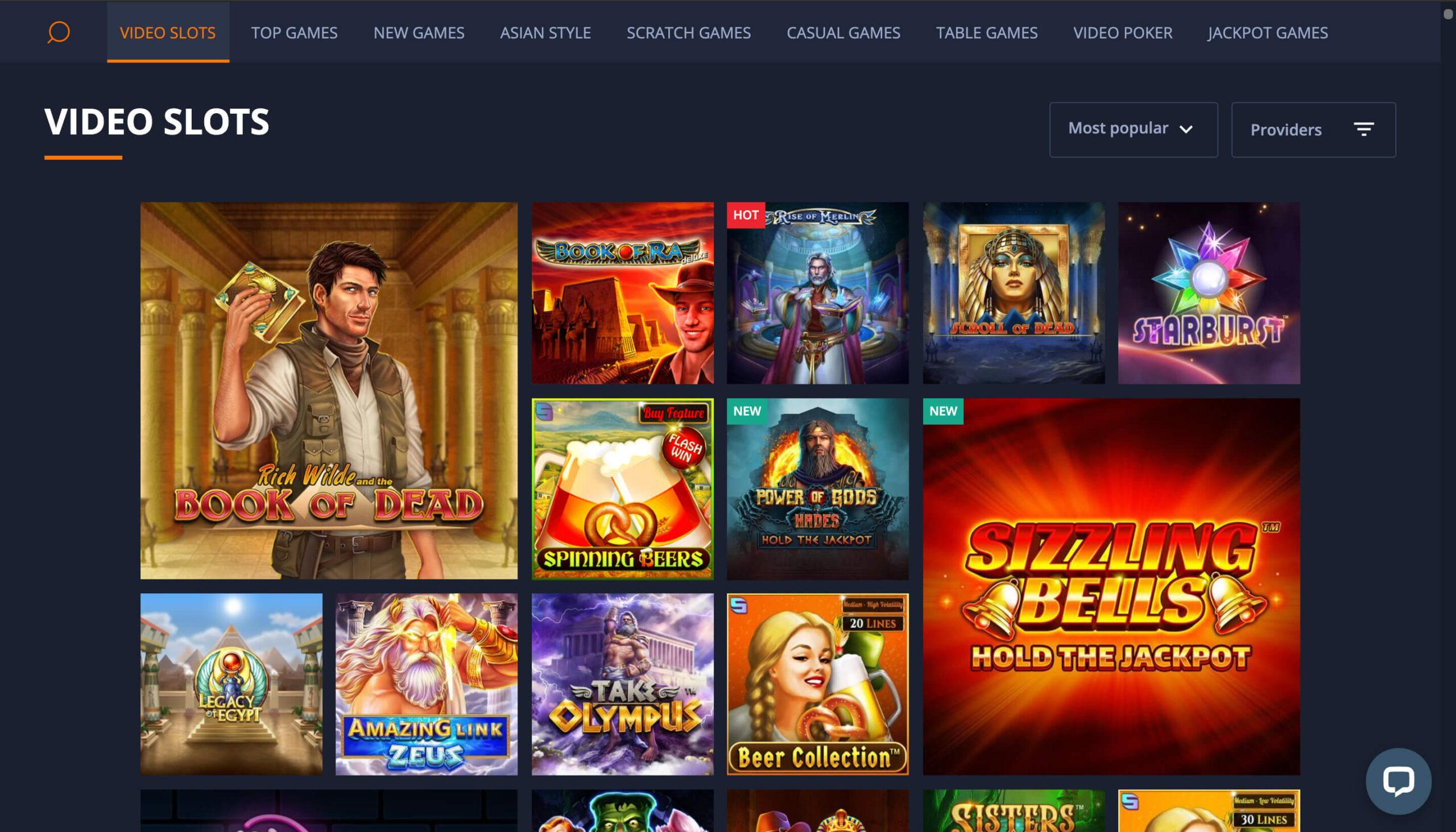 Cashalot casino games